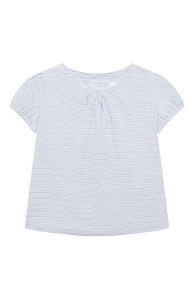 Женский комплект из футболки с сарафаном CHLOÉ голубого цвета, арт. C08039 | Фото 2