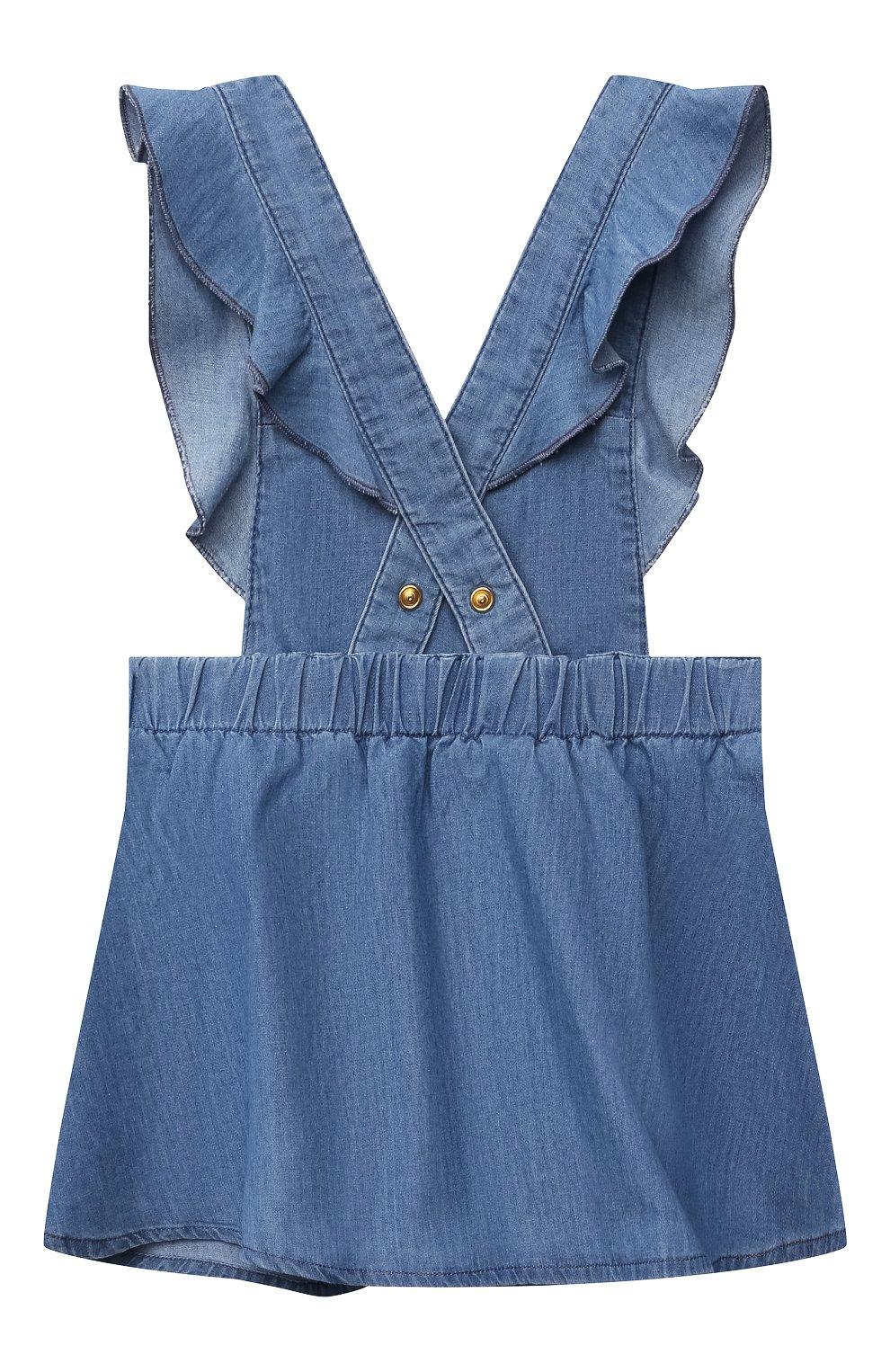 Женский комплект из футболки с сарафаном CHLOÉ голубого цвета, арт. C08039 | Фото 5