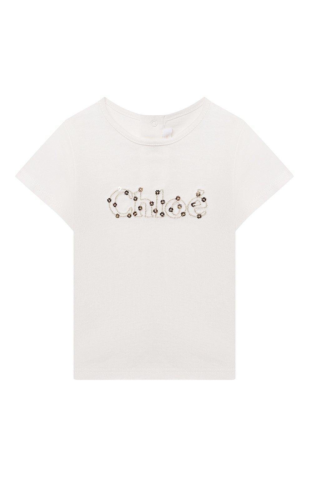 Детский футболка CHLOÉ белого цвета, арт. C05368   Фото 1