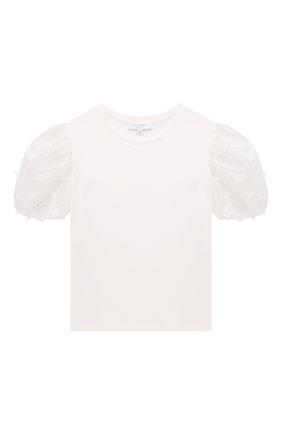 Детская хлопковая футболка CHARABIA белого цвета, арт. S15033   Фото 1
