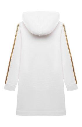 Детское хлопковое платье BALMAIN белого цвета, арт. 6O1200 | Фото 2
