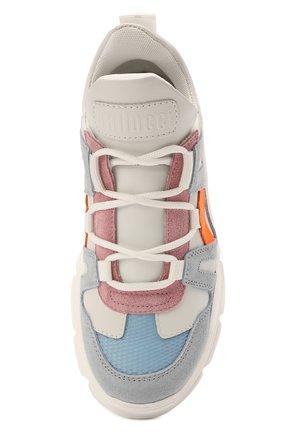 Детские кожаные кроссовки GALLUCCI белого цвета, арт. J20168MM/SC T T G0M VEL/TTE/KY0   Фото 4 (Материал внутренний: Натуральная кожа, Текстиль; Стили: Гранж)
