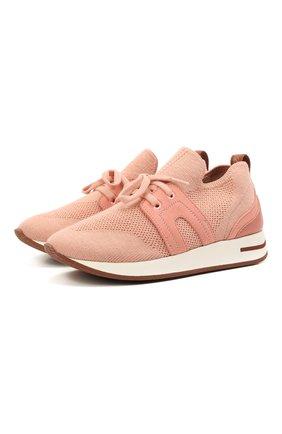 Детские кроссовки LORO PIANA розового цвета, арт. FAL0921   Фото 1