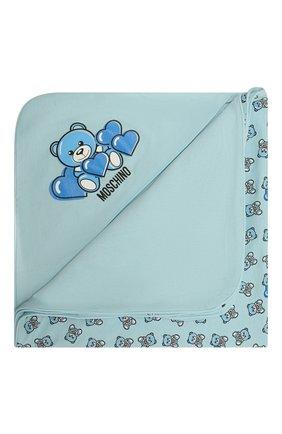 Детского хлопковое одеяло MOSCHINO голубого цвета, арт. MMB006/LAB22 | Фото 1