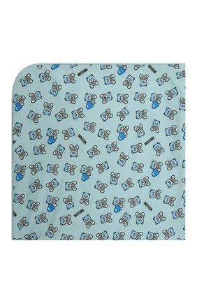 Детского хлопковое одеяло MOSCHINO голубого цвета, арт. MMB006/LAB22 | Фото 2