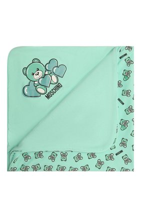 Детского хлопковое одеяло MOSCHINO зеленого цвета, арт. MMB006/LAB22 | Фото 1