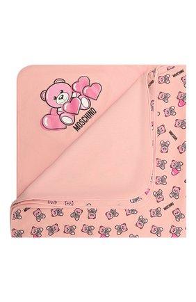 Детского хлопковое одеяло MOSCHINO розового цвета, арт. MMB006/LAB22   Фото 1