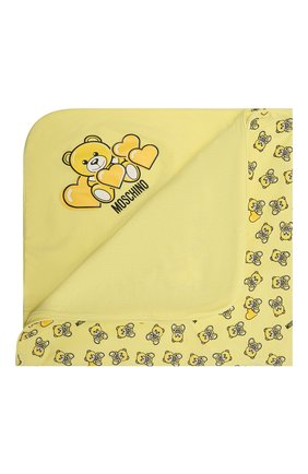 Детского хлопковое одеяло MOSCHINO желтого цвета, арт. MMB006/LAB22 | Фото 1