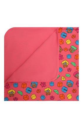 Детского хлопковое одеяло MOSCHINO розового цвета, арт. MUX03K/LBB53 | Фото 1