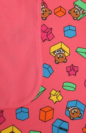 Детского хлопковое одеяло MOSCHINO розового цвета, арт. MUX03K/LBB53 | Фото 2