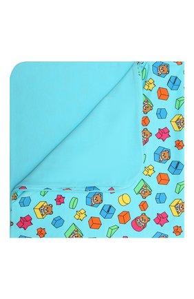 Детского хлопковое одеяло MOSCHINO голубого цвета, арт. MUX03K/LBB53 | Фото 1