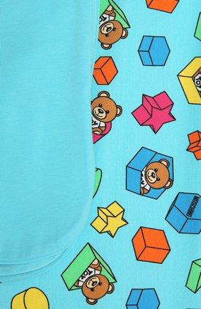 Детского хлопковое одеяло MOSCHINO голубого цвета, арт. MUX03K/LBB53 | Фото 2