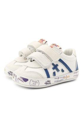 Детские кожаные пинетки PREMIATA WILL BE белого цвета, арт. 12-00CU0001-V | Фото 1