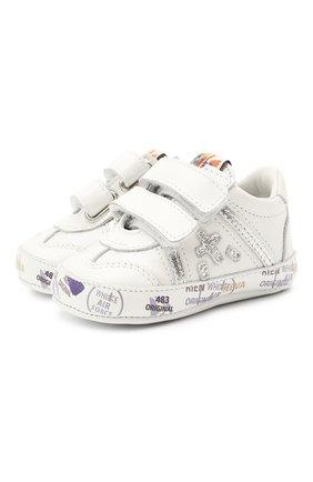 Детские кожаные пинетки PREMIATA WILL BE белого цвета, арт. 12-00CU0002-V | Фото 1