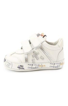 Детские кожаные пинетки PREMIATA WILL BE белого цвета, арт. 12-00CU0002-V | Фото 2