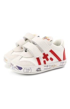 Детские кожаные пинетки PREMIATA WILL BE белого цвета, арт. 12-00CU0003-V | Фото 1