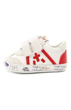 Детские кожаные пинетки PREMIATA WILL BE белого цвета, арт. 12-00CU0003-V | Фото 2