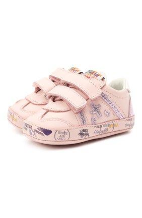 Детские кожаные пинетки PREMIATA WILL BE розового цвета, арт. 12-00CU0008-V | Фото 1