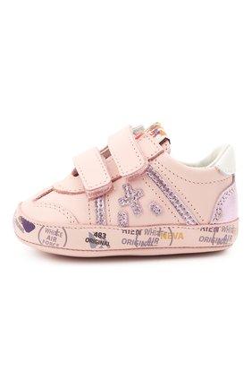 Детские кожаные пинетки PREMIATA WILL BE розового цвета, арт. 12-00CU0008-V | Фото 2