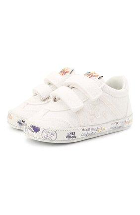 Детские кожаные пинетки PREMIATA WILL BE белого цвета, арт. 12-00CU0012-V | Фото 1