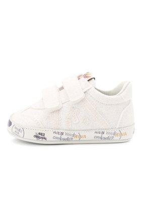 Детские кожаные пинетки PREMIATA WILL BE белого цвета, арт. 12-00CU0012-V | Фото 2