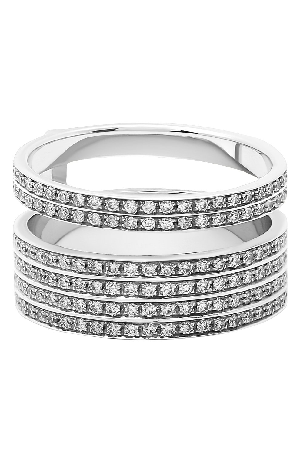Женские кольцо REPOSSI бесцветного цвета, арт. RG/AL31AA(W) | Фото 1 (Материал сплава: Белое золото; Драгоценные камни: Бриллианты)