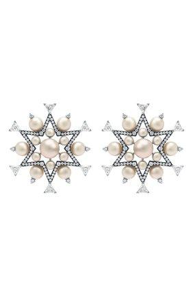 Женские серьги NIKOS KOULIS бесцветного цвета, арт. NEG521   Фото 1