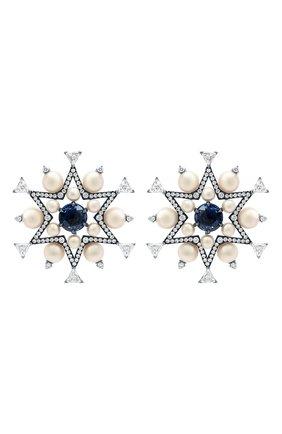 Женские серьги NIKOS KOULIS бесцветного цвета, арт. NEG522   Фото 1