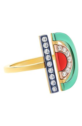 Женские кольцо NIKOS KOULIS бесцветного цвета, арт. NR5085   Фото 1