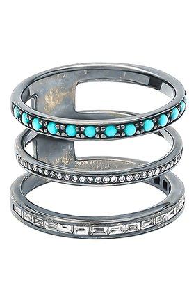 Женские кольцо NIKOS KOULIS бесцветного цвета, арт. NR55079A(B)   Фото 1
