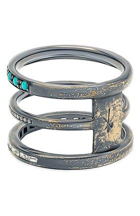 Женские кольцо NIKOS KOULIS бесцветного цвета, арт. NR55079A(B)   Фото 2