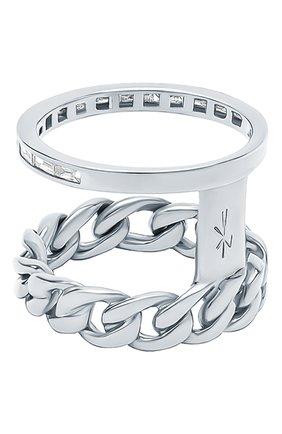 Женские кольцо NIKOS KOULIS бесцветного цвета, арт. NR55124(W)   Фото 2