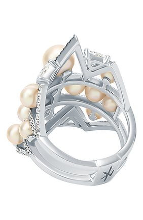 Женские кольцо NIKOS KOULIS бесцветного цвета, арт. NRG946   Фото 2