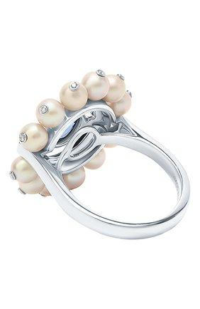 Женские кольцо NIKOS KOULIS бесцветного цвета, арт. NRG955   Фото 2