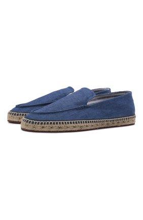 Мужские текстильные эспадрильи seaside LORO PIANA синего цвета, арт. FAL7009 | Фото 1