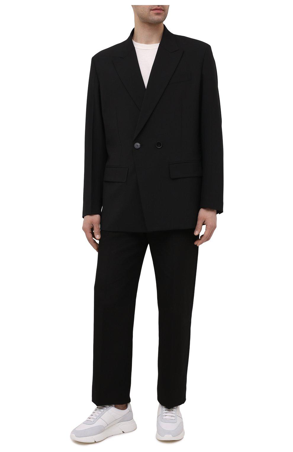 Мужские комбинированные кроссовки genesis vintage AXEL ARIGATO белого цвета, арт. 27571 | Фото 2 (Материал внешний: Текстиль; Материал внутренний: Текстиль; Подошва: Массивная; Стили: Спорт)