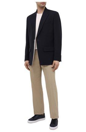 Мужские кожаные кеды clean 90 AXEL ARIGATO темно-синего цвета, арт. 28664 | Фото 2