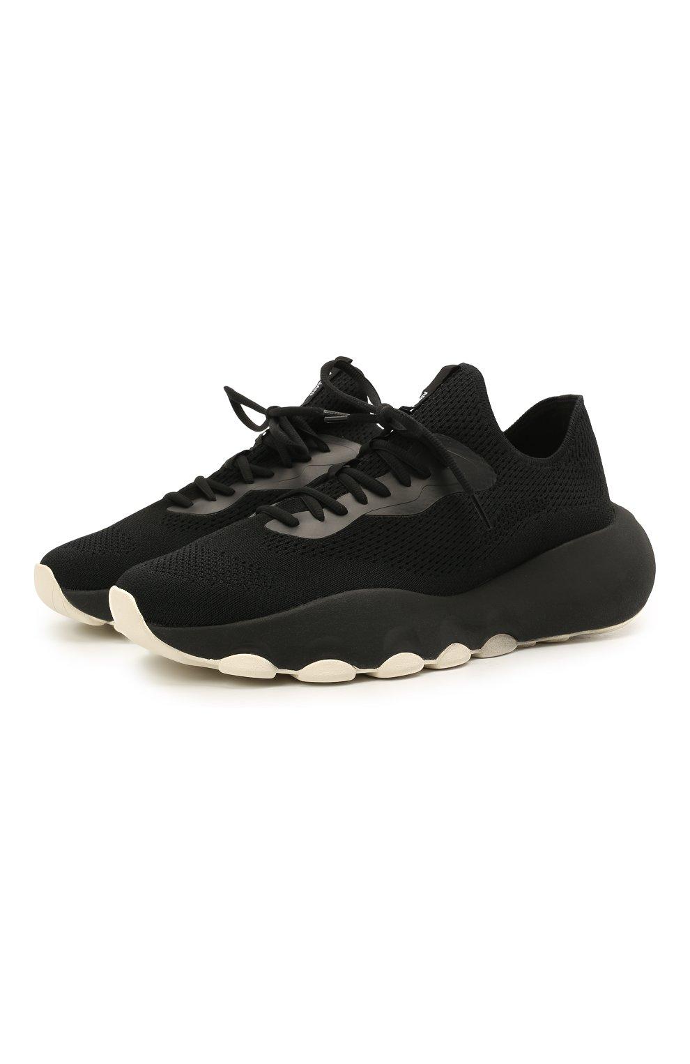 Мужские текстильные кроссовки apex AXEL ARIGATO черного цвета, арт. 22108 | Фото 1 (Материал внешний: Текстиль; Стили: Гранж; Материал внутренний: Текстиль; Подошва: Массивная)