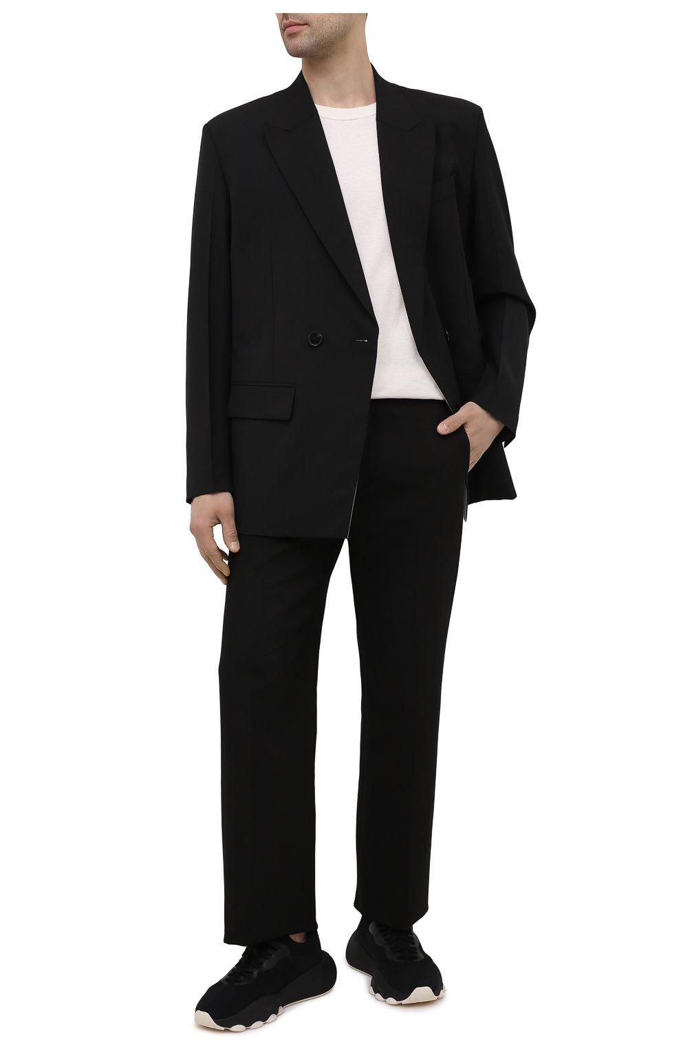 Мужские текстильные кроссовки apex AXEL ARIGATO черного цвета, арт. 22108 | Фото 2 (Материал внешний: Текстиль; Стили: Гранж; Материал внутренний: Текстиль; Подошва: Массивная)
