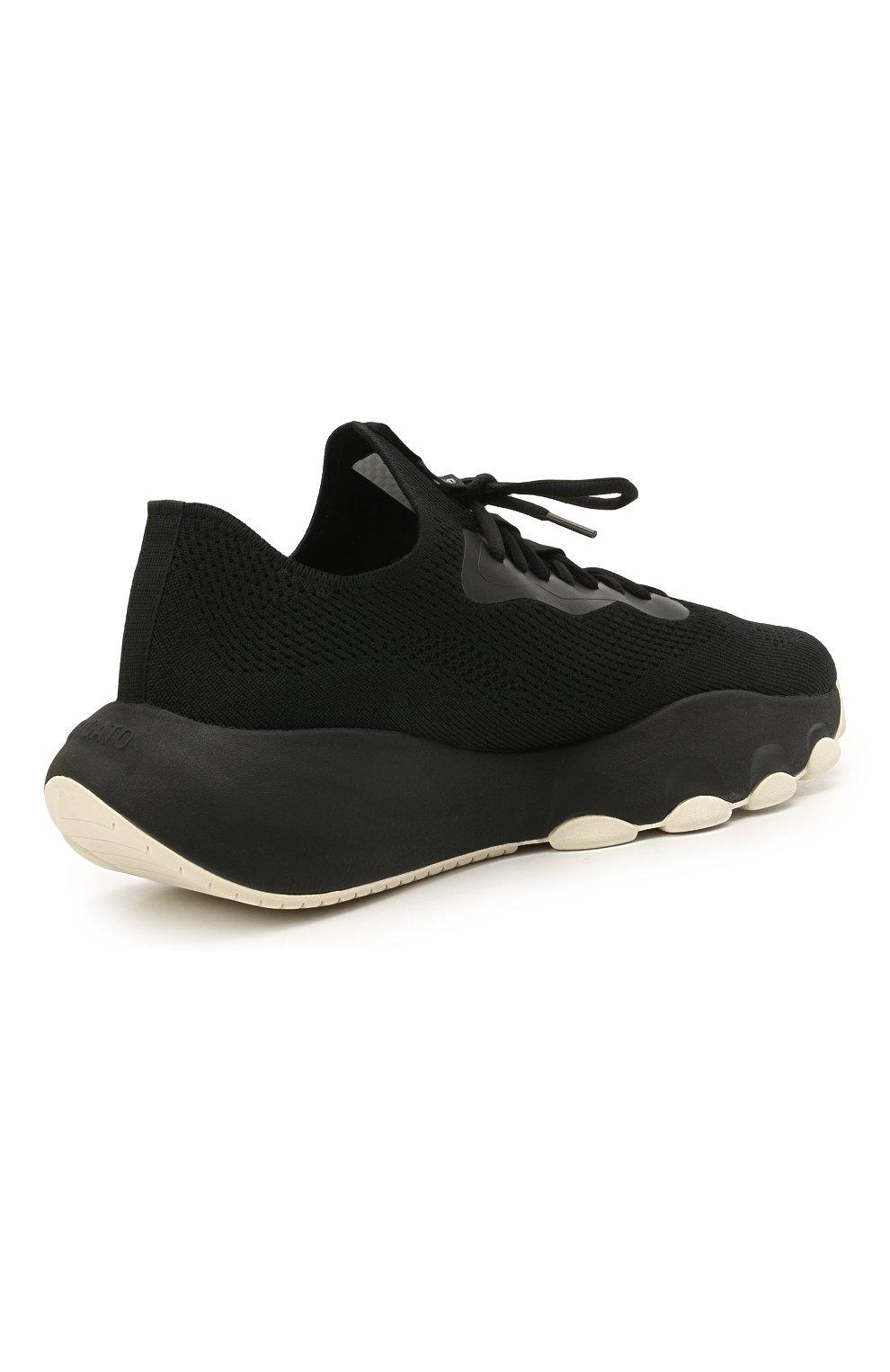Мужские текстильные кроссовки apex AXEL ARIGATO черного цвета, арт. 22108 | Фото 4 (Материал внешний: Текстиль; Стили: Гранж; Материал внутренний: Текстиль; Подошва: Массивная)