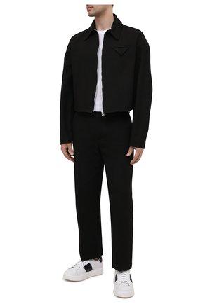 Мужские кожаные кеды mach 3 CHURCH'S черно-белого цвета, арт. EEG050/9AHL | Фото 2