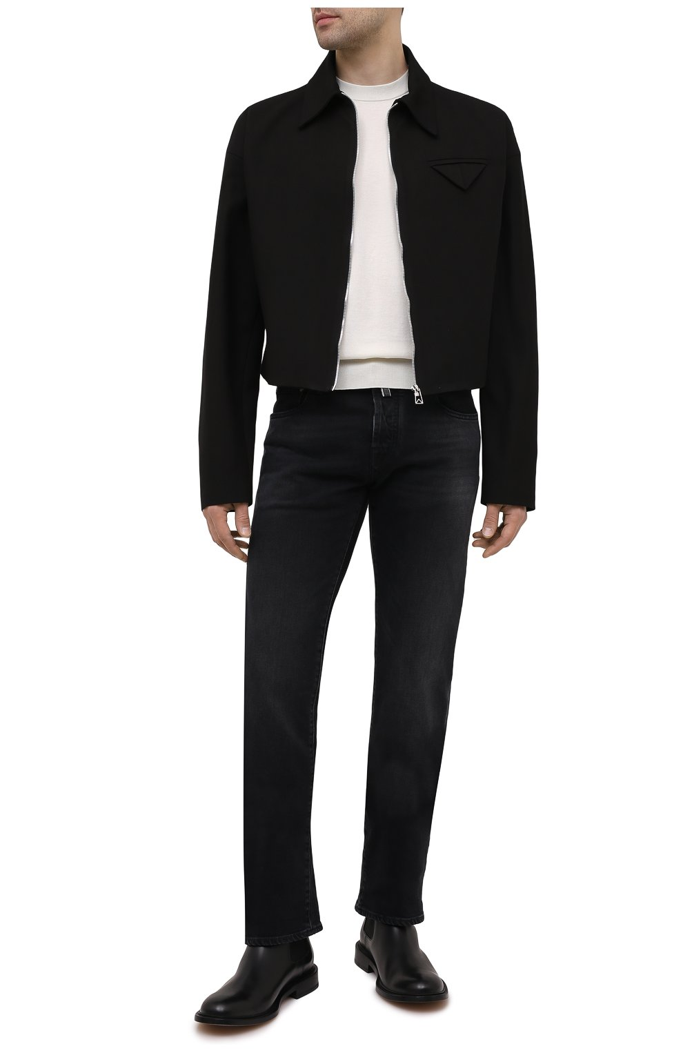 Мужские джинсы JACOB COHEN черного цвета, арт. J620 LIMITED C0MF 02041-W2/55   Фото 2 (Силуэт М (брюки): Прямые; Кросс-КТ: Деним; Длина (брюки, джинсы): Стандартные; Материал внешний: Хлопок; Стили: Кэжуэл)