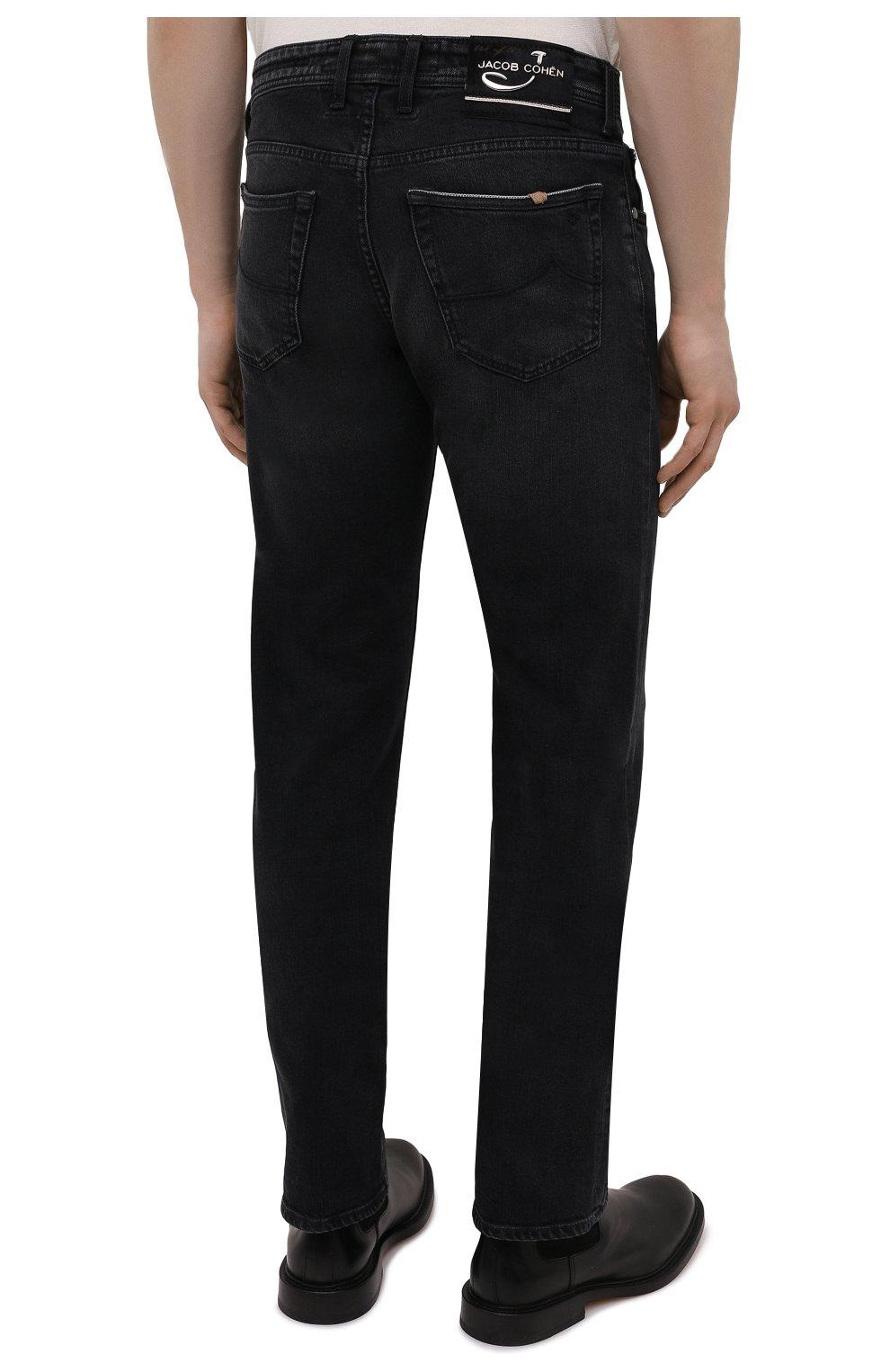 Мужские джинсы JACOB COHEN черного цвета, арт. J620 LIMITED C0MF 02041-W2/55   Фото 4 (Силуэт М (брюки): Прямые; Кросс-КТ: Деним; Длина (брюки, джинсы): Стандартные; Материал внешний: Хлопок; Стили: Кэжуэл)