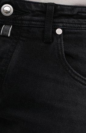 Мужские джинсы JACOB COHEN черного цвета, арт. J620 LIMITED C0MF 02041-W2/55   Фото 5 (Силуэт М (брюки): Прямые; Кросс-КТ: Деним; Длина (брюки, джинсы): Стандартные; Материал внешний: Хлопок; Стили: Кэжуэл)
