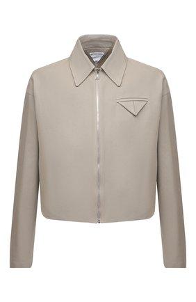 Мужская хлопковая куртка BOTTEGA VENETA бежевого цвета, арт. 646907/V0BT0 | Фото 1 (Кросс-КТ: Куртка, Ветровка; Материал подклада: Вискоза; Длина (верхняя одежда): Короткие; Материал внешний: Хлопок; Рукава: Длинные; Стили: Минимализм)