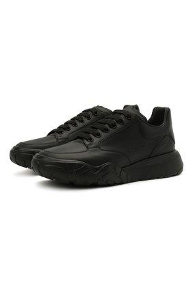 Мужские кожаные кроссовки court ALEXANDER MCQUEEN черного цвета, арт. 634619/WIA98 | Фото 1 (Подошва: Массивная; Материал внутренний: Натуральная кожа; Стили: Гранж)