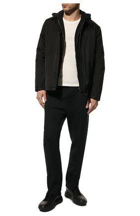 Мужские кожаные кроссовки court ALEXANDER MCQUEEN черного цвета, арт. 634619/WIA98 | Фото 2 (Подошва: Массивная; Материал внутренний: Натуральная кожа; Стили: Гранж)
