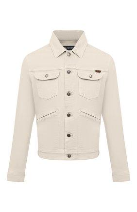 Мужская джинсовая куртка TOM FORD светло-бежевого цвета, арт. BWJ32/TFD116 | Фото 1