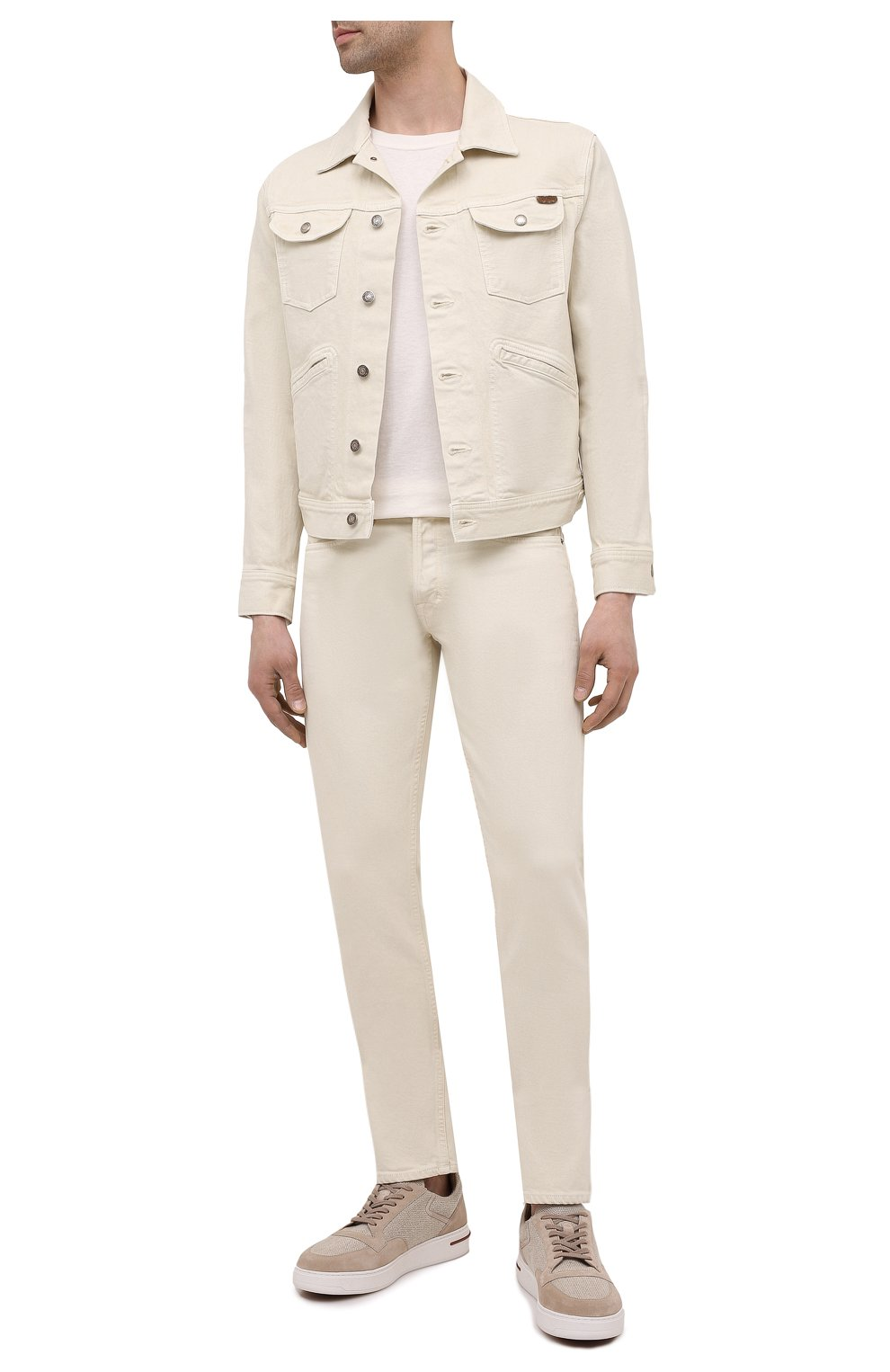 Мужская джинсовая куртка TOM FORD светло-бежевого цвета, арт. BWJ32/TFD116 | Фото 2