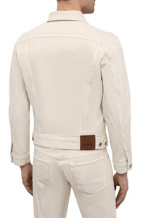 Мужская джинсовая куртка TOM FORD светло-бежевого цвета, арт. BWJ32/TFD116 | Фото 4